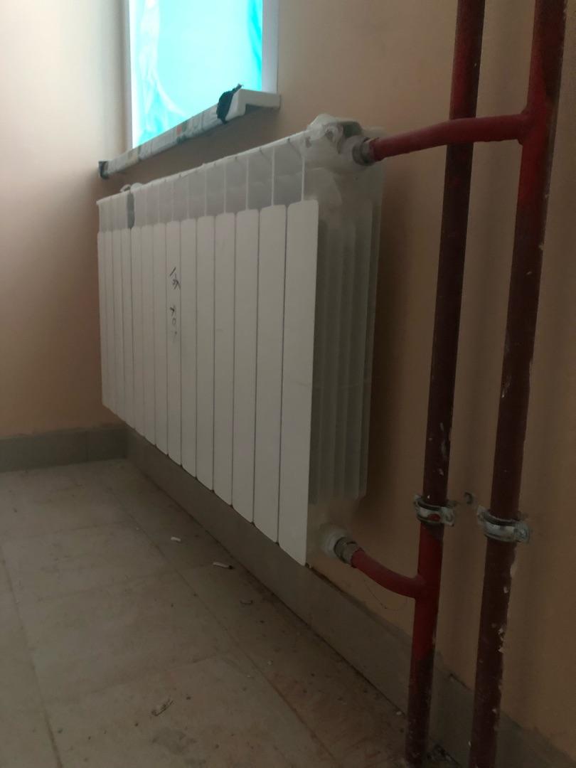 Установлены радиаторы и приборы учета